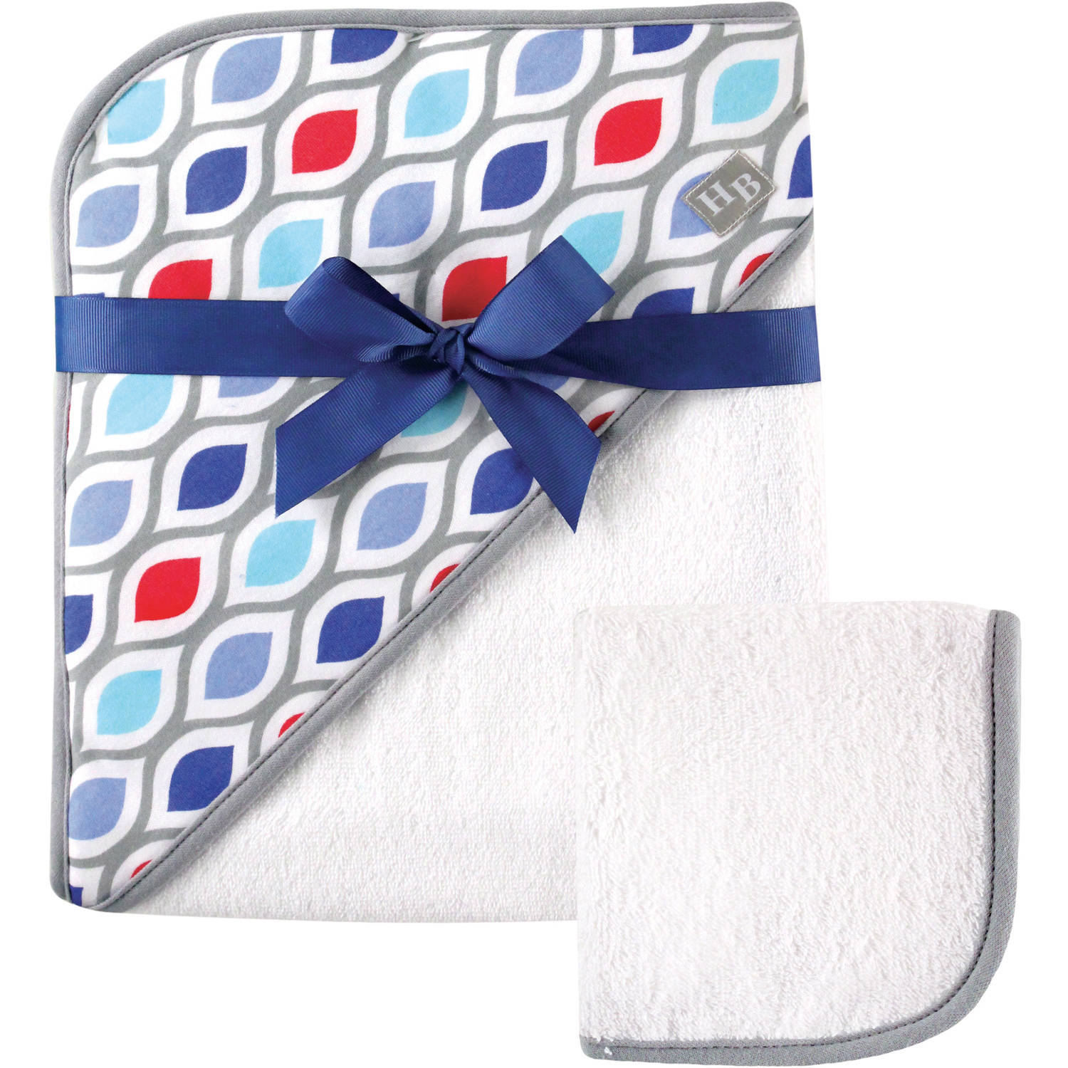 Hudson Baby Boys' Woven Hooded Towel and Washcloth, Choose Your Color by Hudson Baby