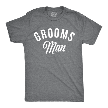 Mens Groomsman T Shirt Cool Tee For Best Man On Wedding Day Bachelor Party