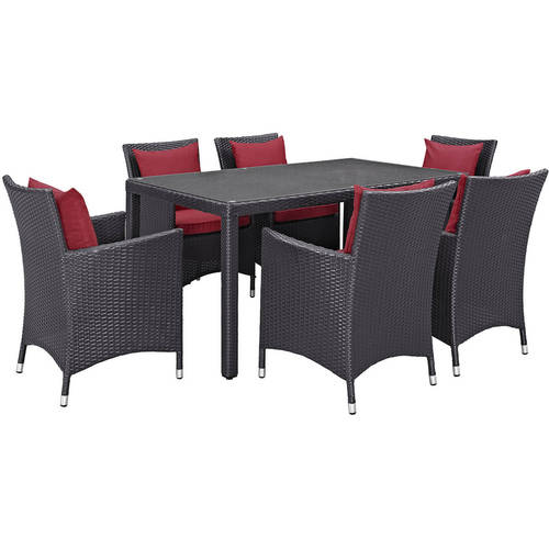 Modway Convene 7 Piece Outdoor Patio Dining Room Set, Multiple Colors by Modway
