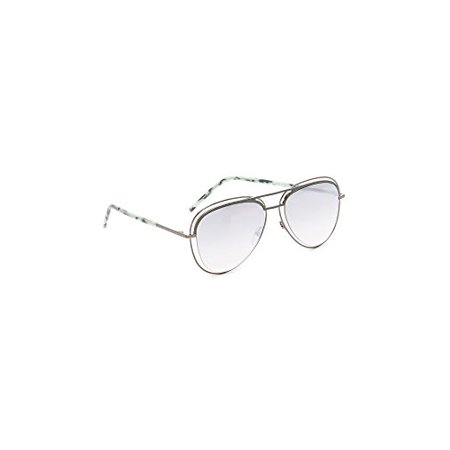 Marc Jacobs Men's Double Frame Aviator Sunglasses, Dark Ruthenium/Silver, One Size