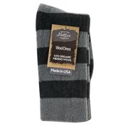 Maggies Functional Organics - Wool Crew Singles, Dress Stripe Crew Black/Grey 10-13