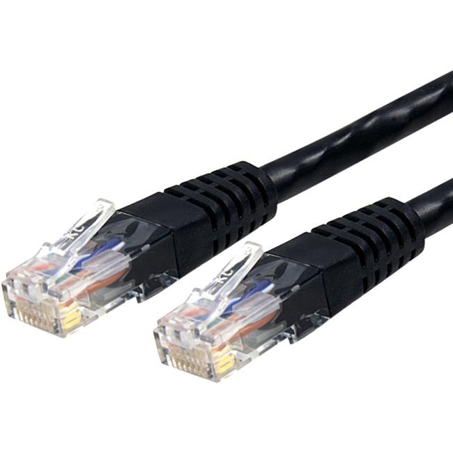 StarTech 6 ft Black Molded Cat6 UTP Patch Cable ETL Verified C6PATCH6BK