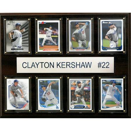 C&I Collectables MLB 12x15 Clayton Kershaw Los Angeles Dodgers 8-Card (Clayton Kershaw Plaque)
