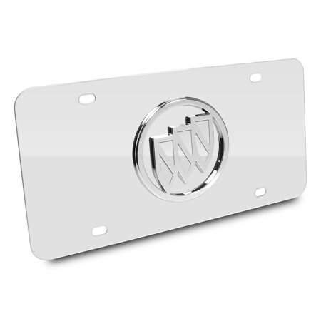 Buick Chrome Logo Chrome Stainless Steel Auto License Plate ()