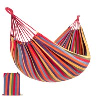 Best Choice Products 2-Person Brazilian-Style Cotton Double Hammock Bed w/ Portable Carrying Bag Rainbow