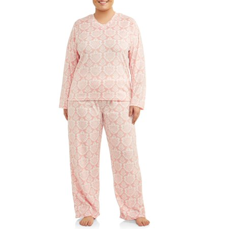 Mayfair Women's and Women's Plus Minky Fleece 2-Piece Pajama - Halloween Pajamas Womens