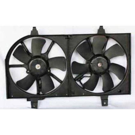 - NEW AC CONDENSER FAN ASSEMBLY FITS 2001 NISSAN SENTRA DUAL RADIATOR CONDENSER