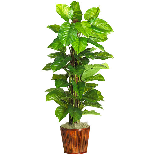 "Real Touch 63"" Large Leaf Philodendron Silk Plant"