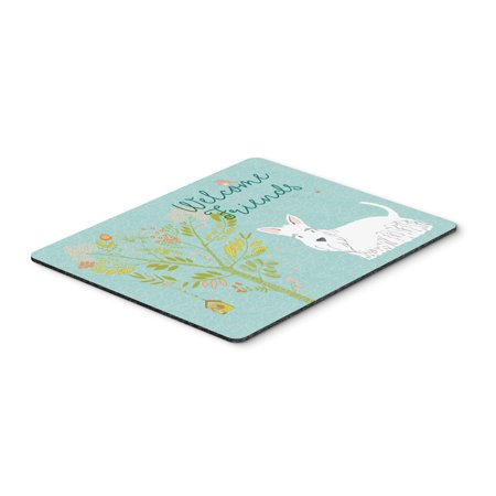 Carolines Treasures BB7617MP Welcome Friends White Scottish Terrier Mouse Pad, Hot Pad or Trivet ()