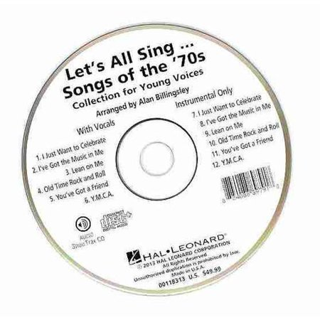 Let's All Sing Songs of the '70s: Collection for Young Voices, Includes Vocals and Instrumental