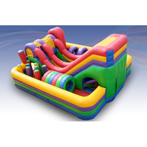 EZ Inflatables Obstacle Slide Combo Bounce House