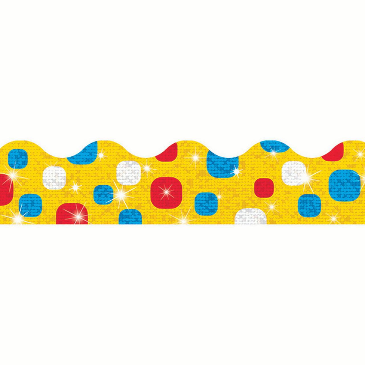 Trend Enterprises 2.25 x 32.5 Inch Terrific Trimmers New Wave, 10 Count - Super Duper Dots Colorful Sunshine Sparkle