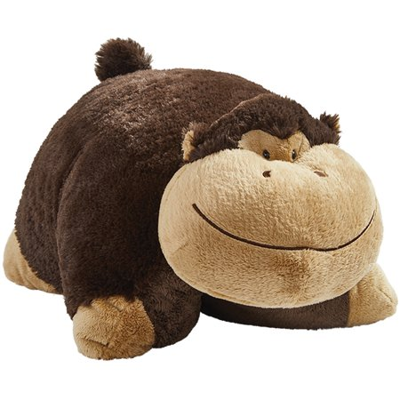 "Pillow Pets 18"" Signature Silly Monkey Stuffed Animal Plush Toy"