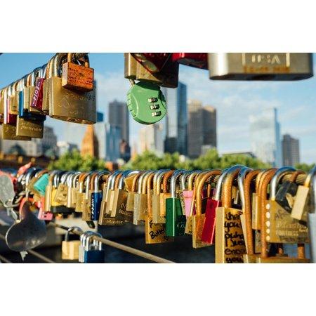 Framed Art for Your Wall Australia Bridge Melbourne Skyline Aussie Lock 10x13 Frame