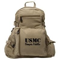 USMC SEMPER FIDELIS Army Sport Heavyweight Canvas Backpack Bag