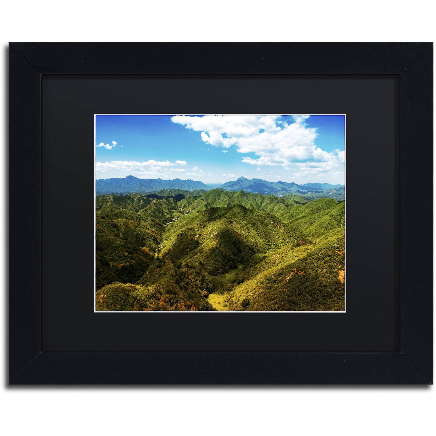 Trademark Fine Art 'Great Wall XII' Canvas Art by Philippe Hugonnard Black Matte, Black Frame