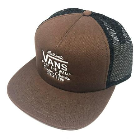 40df8bb29c Vans Off The Wall Men's Galer Trucker Hat Cap - Demitasse