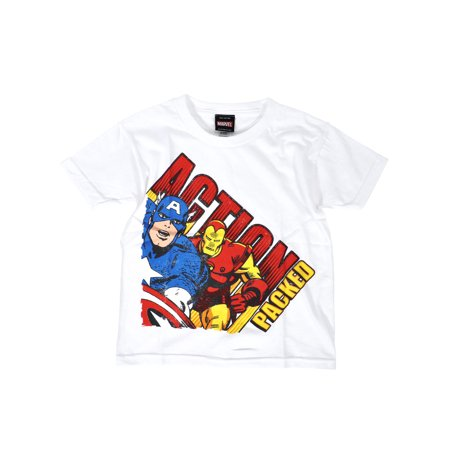 Marvel comics avengers captain america iron man boys Boys superhero t shirts