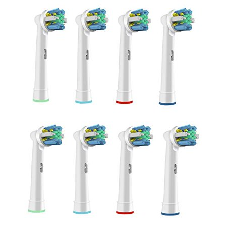 VeniCare Replacement Brush Heads Compatible with Oral-B Electric Toothbrush - Model EB-25A Floss Action Works with all Oral B Brush Handles (except for Sonic models) , Cleanest, Sparkling Teeth (8) - Fox Sonic