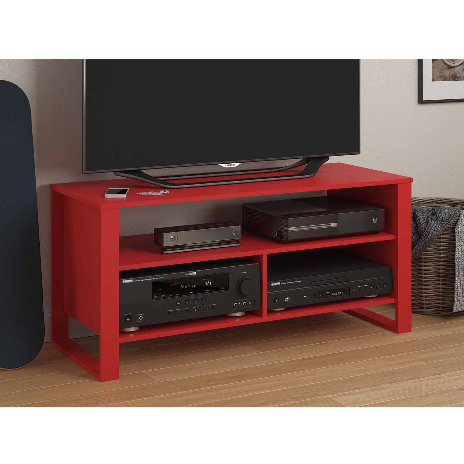 Mainstays Tv Stand For Tvs Up To 44 Walmart Com