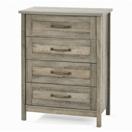 Garden Drawer - Better Homes & Gardens Modern Farmhouse 4-Drawer Chest, Rustic Gray Finish
