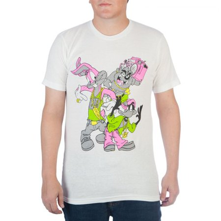 Big Men's 90's inspired looney tunes characters with high density ink graphic tee, - Halloween Cartoon Movie 90's