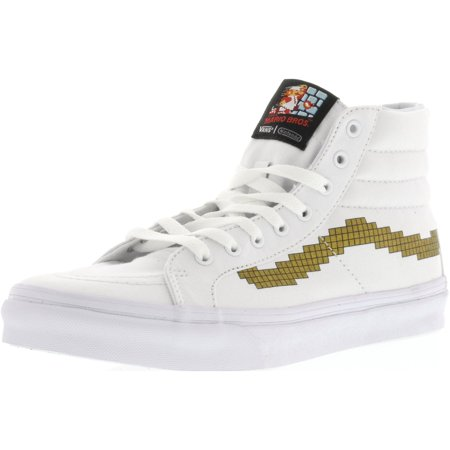 Vans Sk8-Hi Slim Nintendo Console / Gold Ankle-High Canvas Skateboarding Shoe - 10M 8.5M - Unusual Vans Shoes