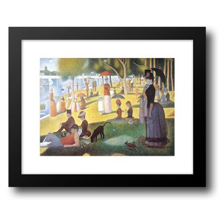 FrameToWall - Sunday Afternoon on the Island of La Grande Jatte, c.1886 18x15 Framed Art Print by Seurat, Georges