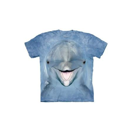 Dolphin Face Close Up Animal Big Boys T-Shirt Tee