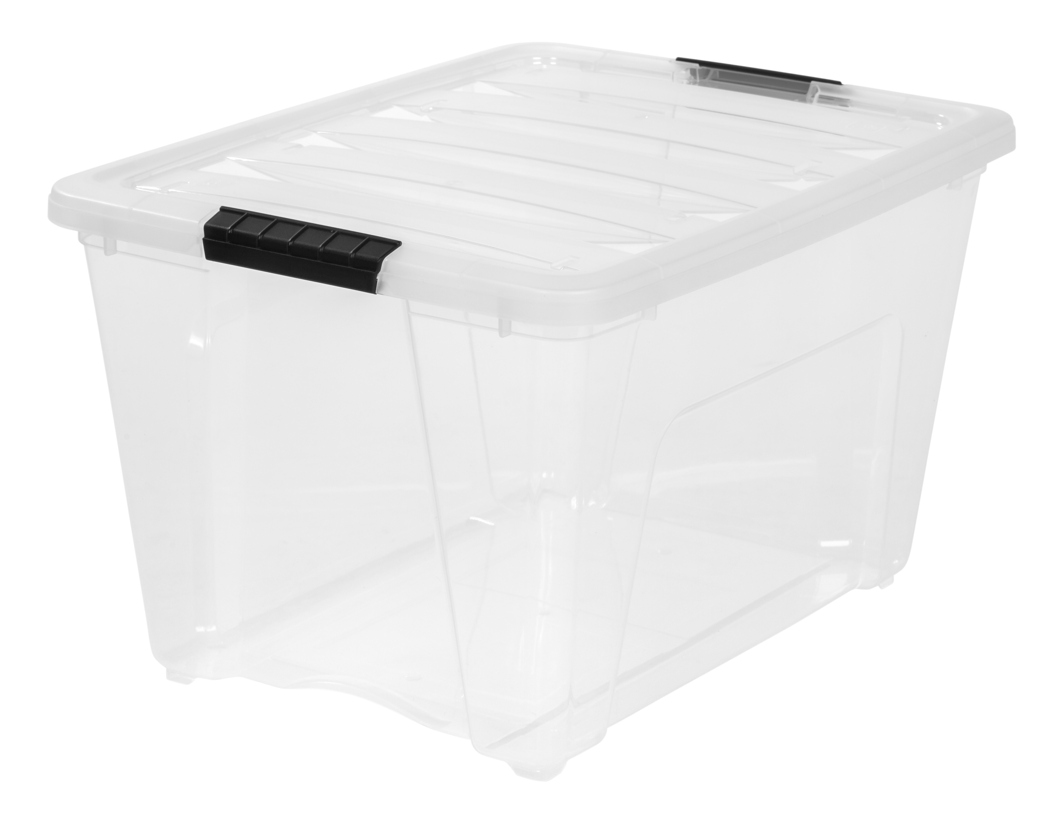 IRIS 54 Qt. Stack and Pull Plastic Storage Box, Clear - Walmart.com