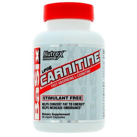 Carnitine Liquid - Nutrex Research  Lipo-6 Carnitine  60 Liquid Capsules