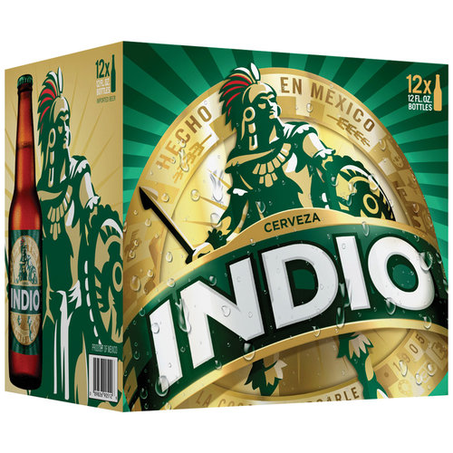 Indio Beer, 12 fl oz, 12 pack
