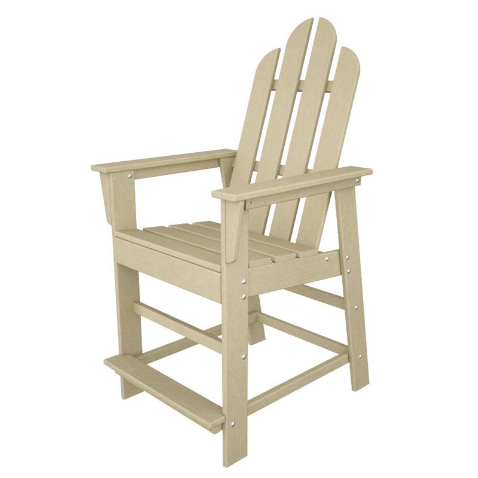 POLYWOODu0026reg; Long Island Recycled Plastic 24 In. Outdoor Counter Chair    Walmart.com
