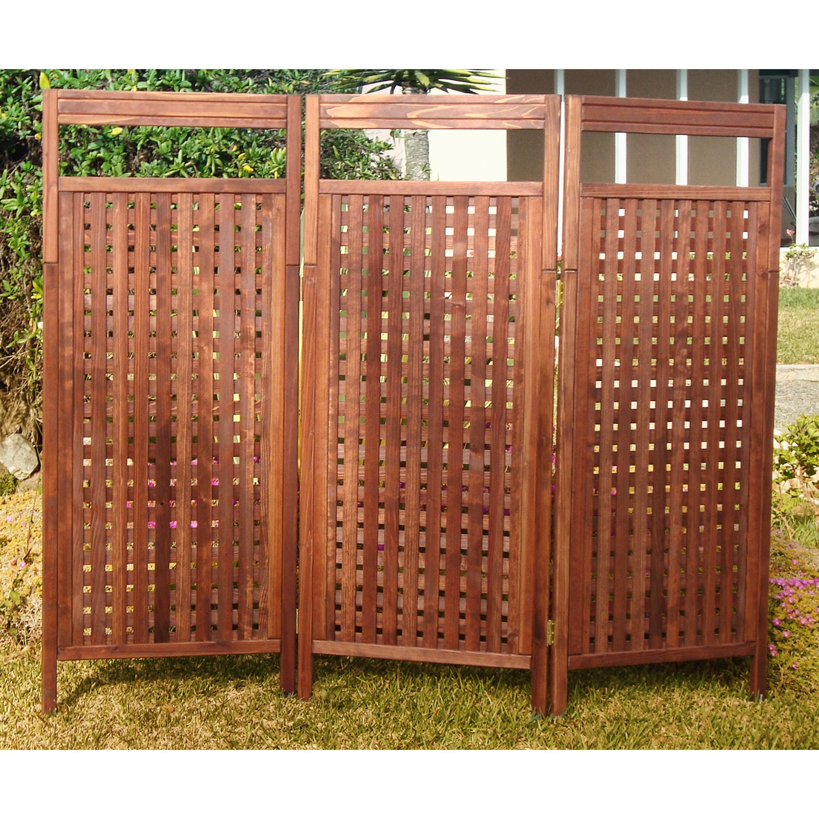 Best Redwood Deluxe Outdoor Privacy Screen - Walmart.com