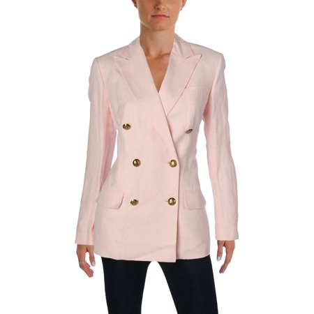 Lauren Ralph Lauren Womens Linen Blend Summertime Double-Breasted Blazer
