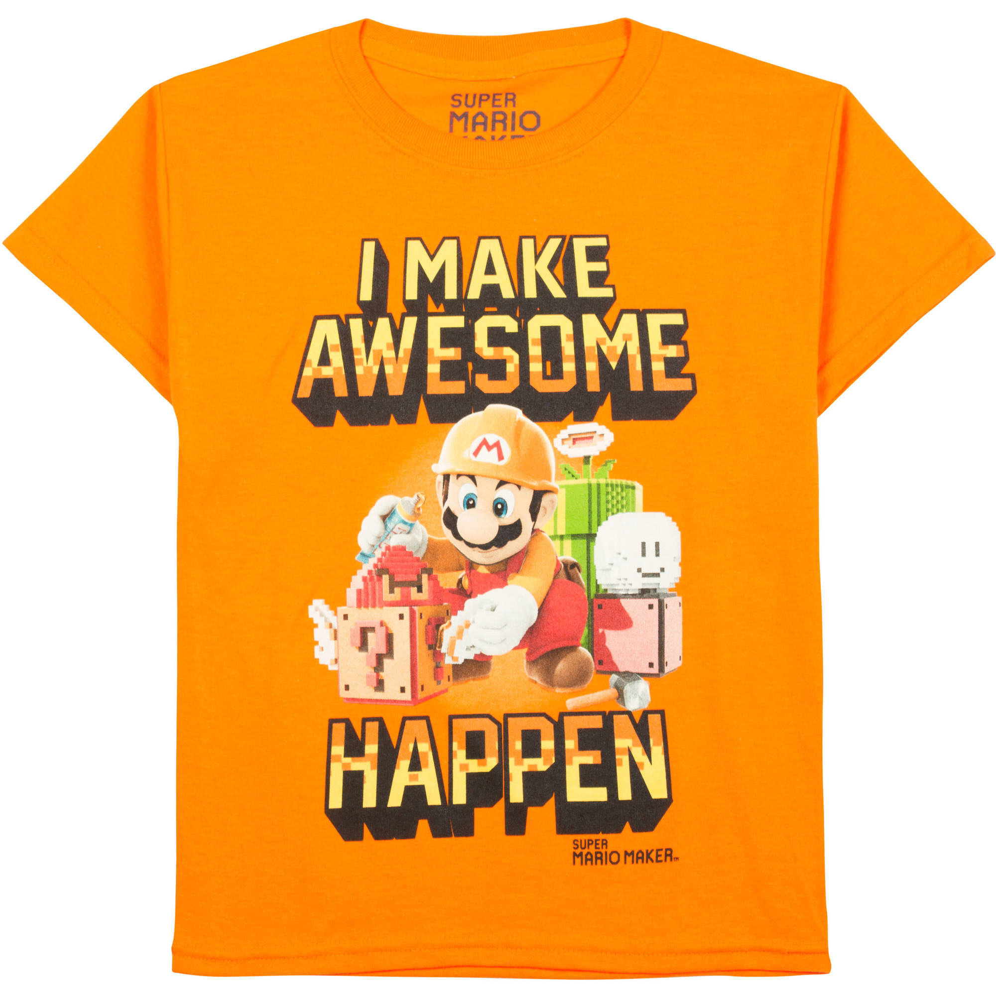 Nintendo Mario Brothers Boys Make Awesome Happen Graphic Tee