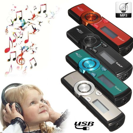 Portable LCD HD BASS MP3 Music Player with Headphones And Clip Support ZAPPIN mode / FM Radio / 32 GB TF Memory Card USB (Mp3 Player Hd)