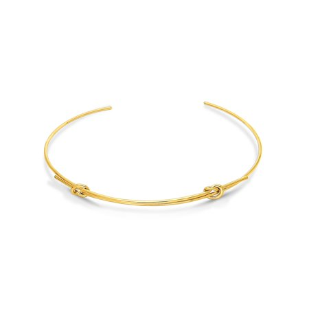 BERRICLE Gold Flashed Base Metal Love Knot Fashion Choker