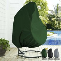 """Waterproof Cover for Patio Hanging Egg Swing Chair, Windproof Heavy Duty Garden Furniture Protector - 75""""H x 45""""D Black"""