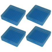MTM 100 Round Flip-Top 40/45/10MM Cal Ammo Box - Clear Blue (4 Pack)