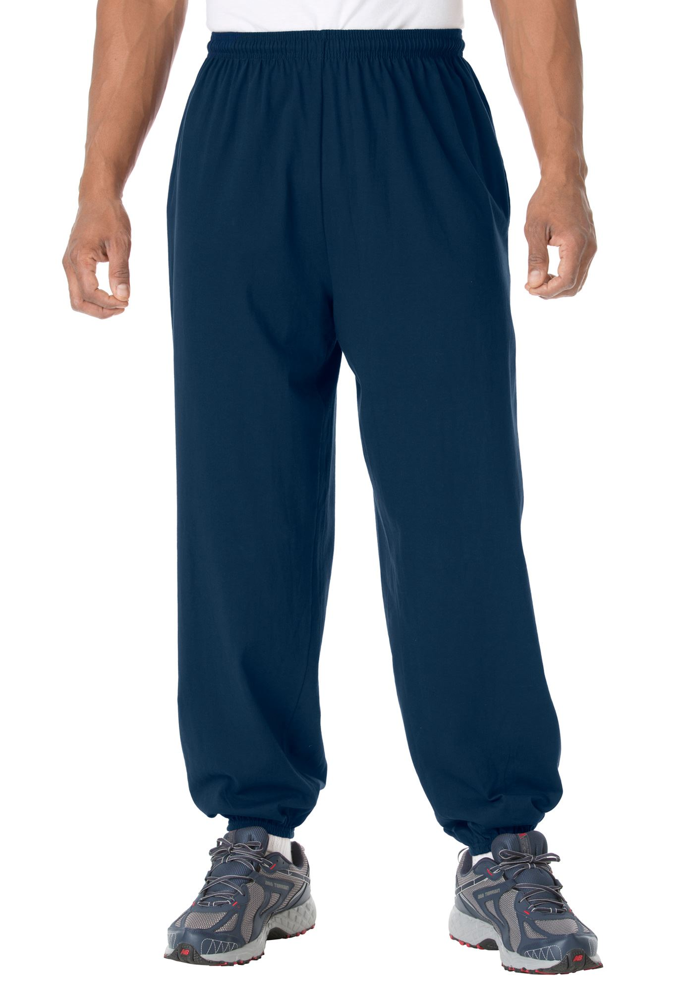 Kingsize Men's Big & Tall Lightweight Elastic Cuff Sweatpants