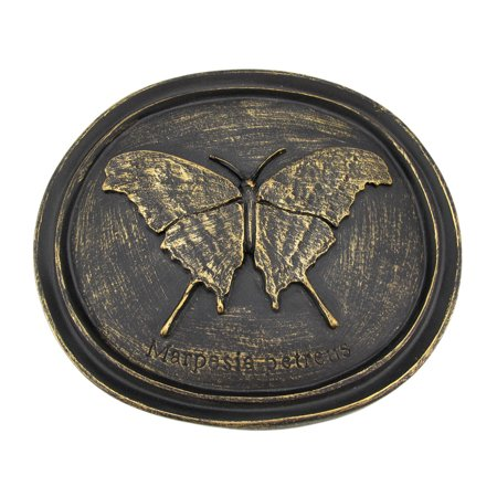 Bronze Finish Butterfly Wall Plaque Entomology