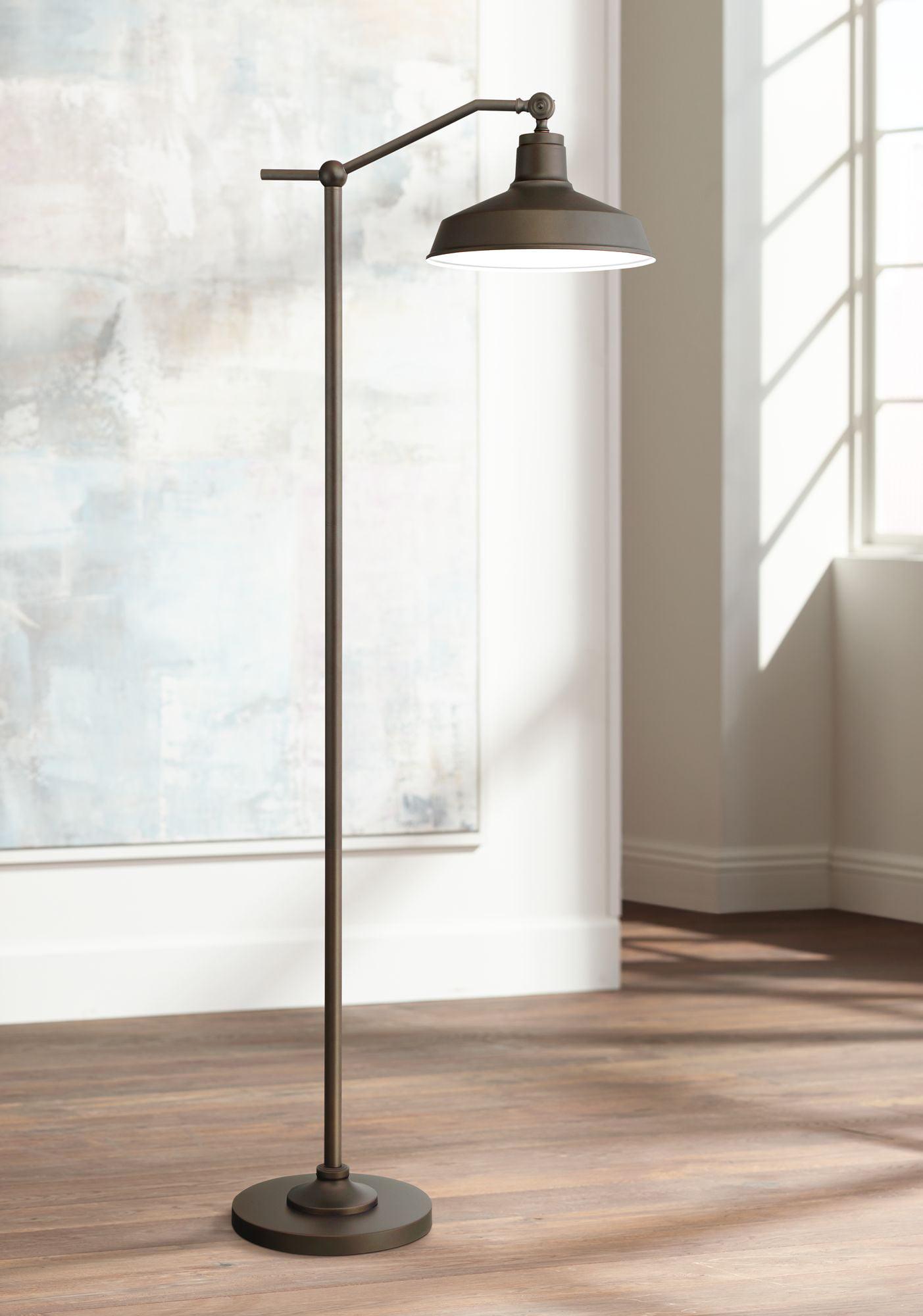 360 lighting modern downbridge floor lamp satin bronze