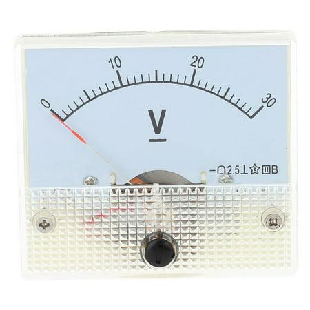 DC30VProfessionalAnalogPanelVoltVoltageMeterTesterGauge85C10-30VVoltmeter - image 1 de 7
