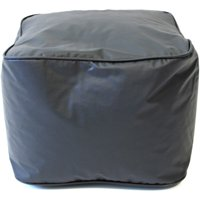 "GOLD MEDAL Ottoman, Glossy Vinyl, Small 15"", Bright Blue"