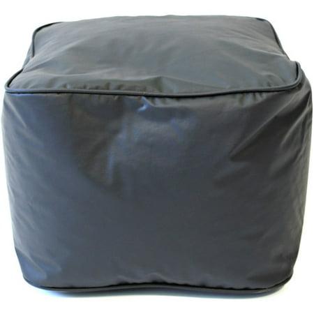 Enjoyable Small 15 Black Faux Leather Ottoman Bralicious Painted Fabric Chair Ideas Braliciousco