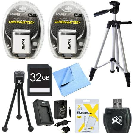 Essential NB6LH Battery Bundle for Canon Powershot SX520, SX710, SX700, S120, SX600, SX530, SX610 Cameras includes 2 NB6LH Batteries, Charger, 32GB High Speed Memory Card, 57-Inch Tripod, Mini Tripod ()