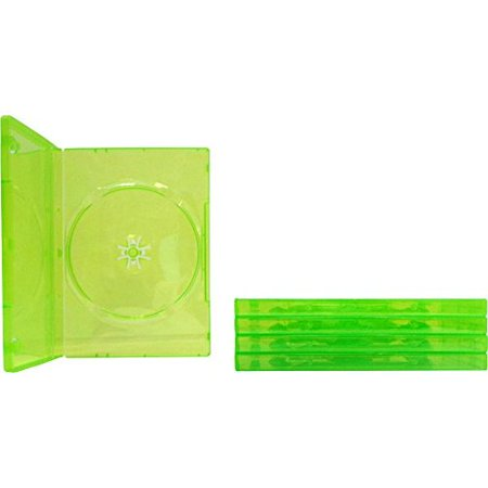 5 Empty Standard Xbox 360 Translucent Green Replacement Games Boxes /