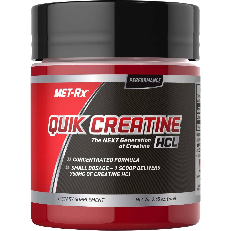 MET-Rx Quik Creatine HCL Powder Dietary Supplement, 2.65 oz