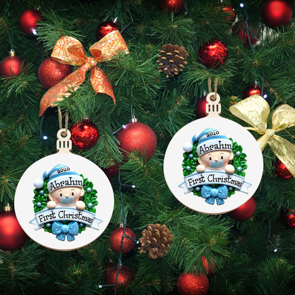Details about  /1pcs Christmas Ornament Personalized Family Resin Decorations